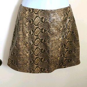Vintage Express snakeskin mini skirt